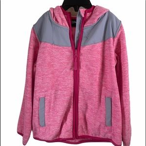 Weatherproof Hooded Full Zip Coat Pink/Gray 4T